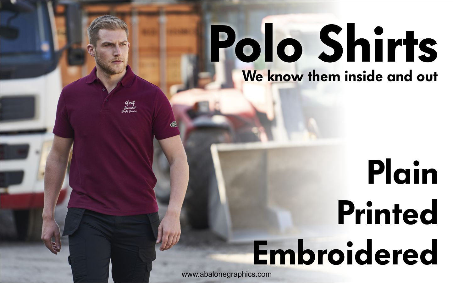 Printed Embroidered Polo Shirts