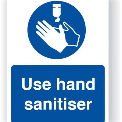 Use Hand Sanitiser Sticker