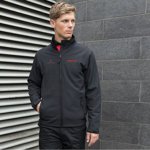 embroidered corporate softshell jackets