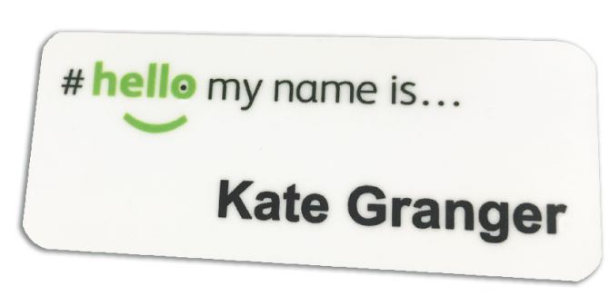 Magnetic Name Badge Hello My Name Is