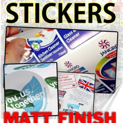Custom Printed Stickers Matt Finish